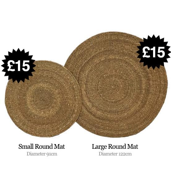 Small Round Mat and Large Round Mat