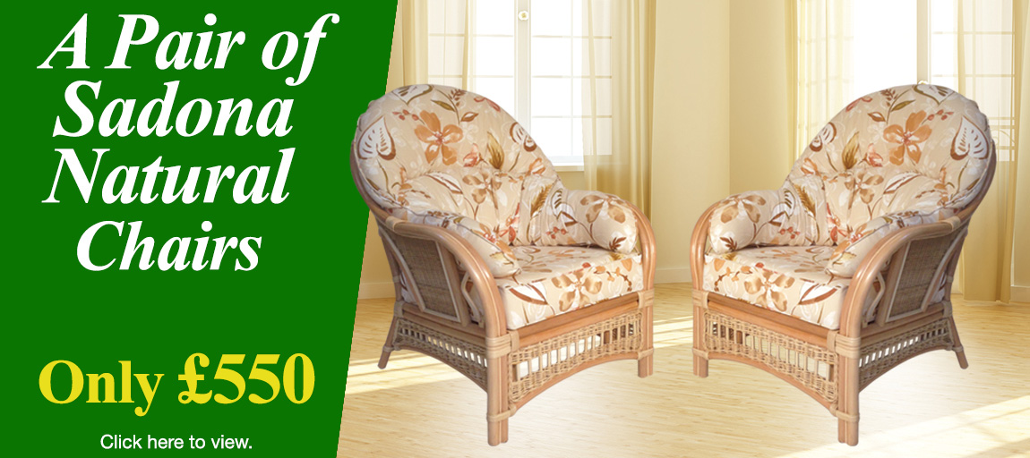 Sadona Natural Pair of Chairs