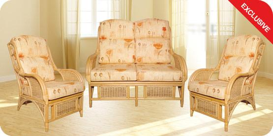 Click to view the Serena Natural 3 Piece Suite