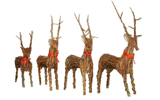 Click to enlarge Wicker Reindeer