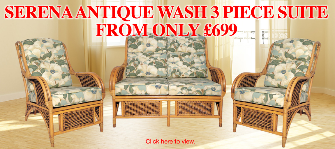 Serena Antique Wash 3 Piece Suite