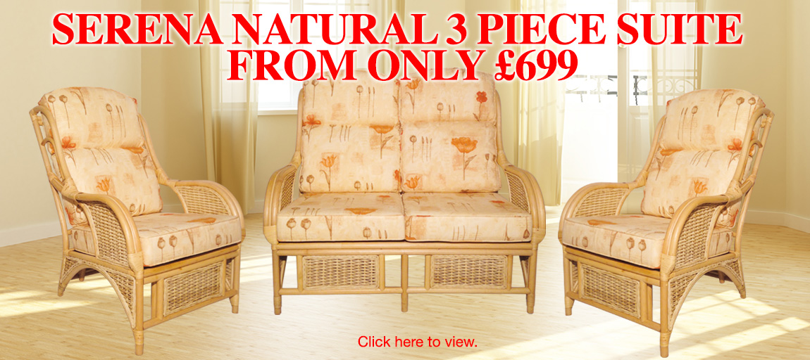 Serena Natural 3 Piece Suite